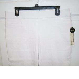 Studio Works Comfort Waist Pants, White, size 12P